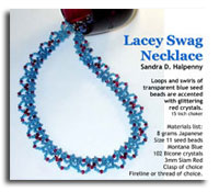 Lacey Swag Seed Bead Necklace