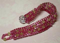 F-P Crystals & Cubes Bracelet