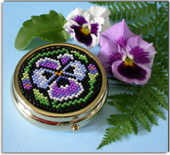 Pansy Pill Box