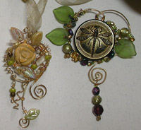Wire Wrap Buttons & Bead