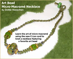Art Bead Micro-Macrame Necklace