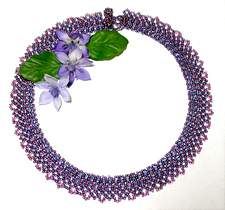 Double Daisy Seed Bead Collar
