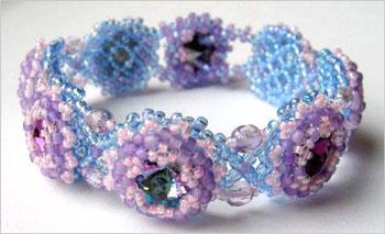 Rivolis in a Net Bracelet