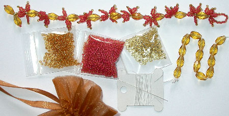 Bead Kit for the Japanese Maple Leaves Bracelet