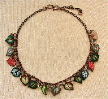 Copper & Leaf Necklace Kit