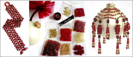 Crimson Glory Ornament Bead Kit