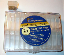 Bead patterns the magazine for Darice jewelry designer bead storage system with 24 containers