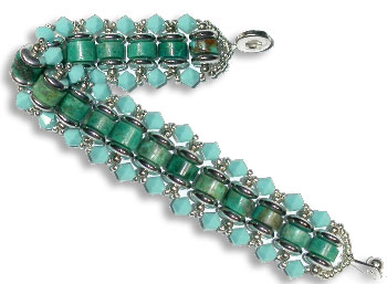 Turquoise Crystals Bracelet