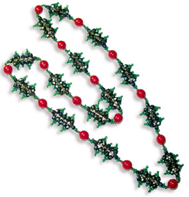 Fire Polished Holly Necklace