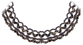 Smoky Lace Necklace